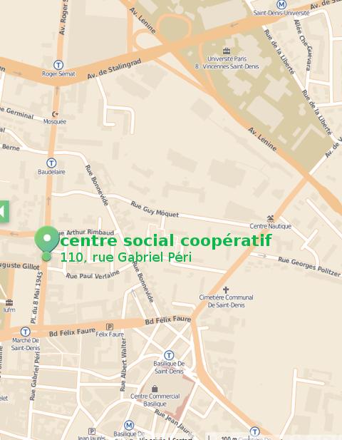 Plan Centre social coopératif Saint-Denis